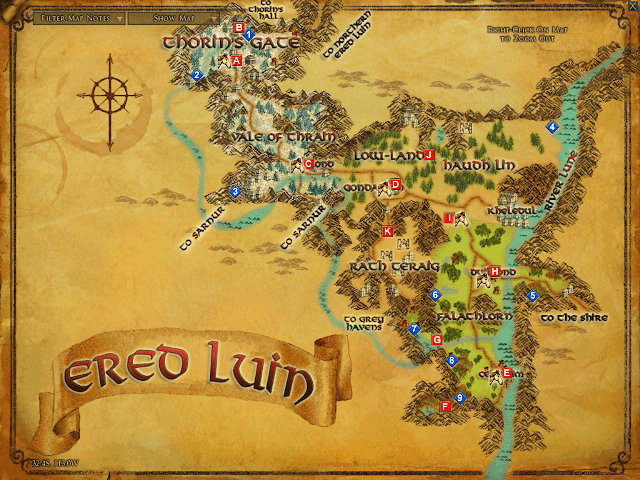 LOTRO Ered Luin map