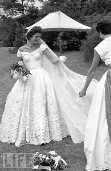 Iconic wedding dresses on pinterest queen victoria for Jackie kennedy inspired wedding dress
