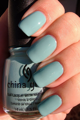 china glaze for audrey nail polish swatch