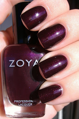 zoya sloane swatch nail polish