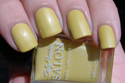sally hansen forsythia nail polish