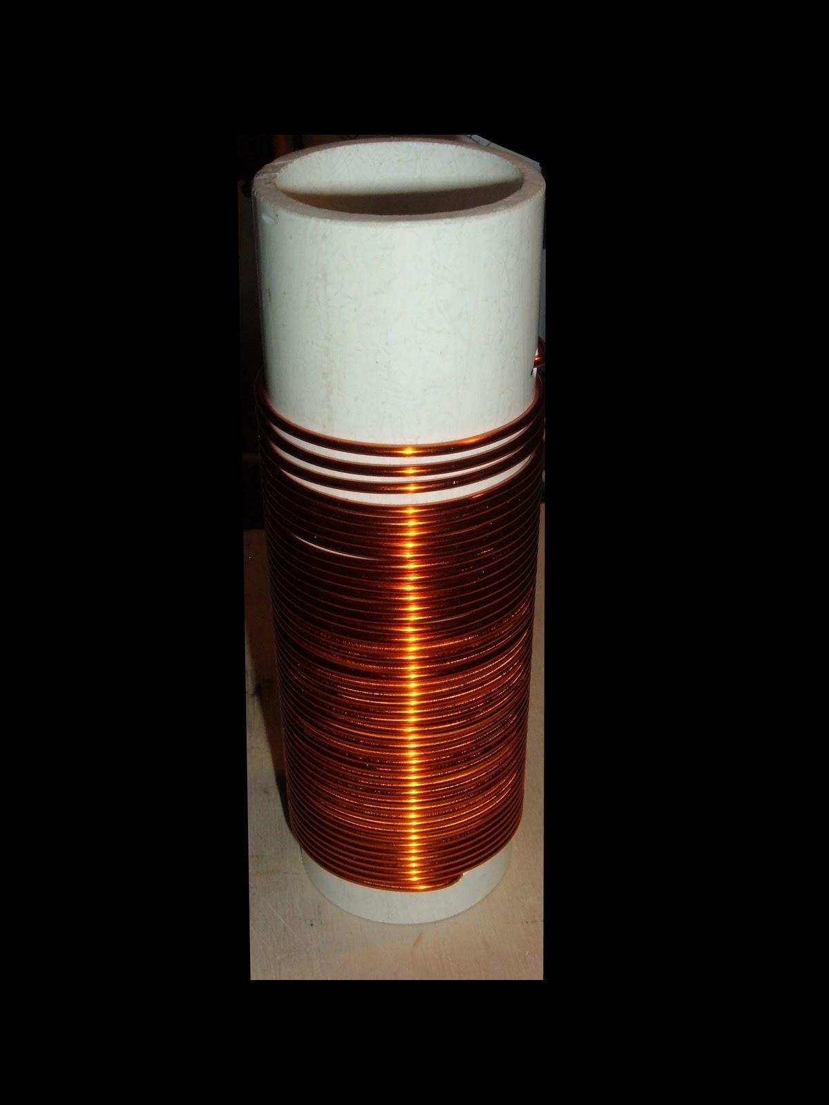 Der Bastelbunker - Die Basteldoku: HF-Luftspule/Induktorspule/Spule ...