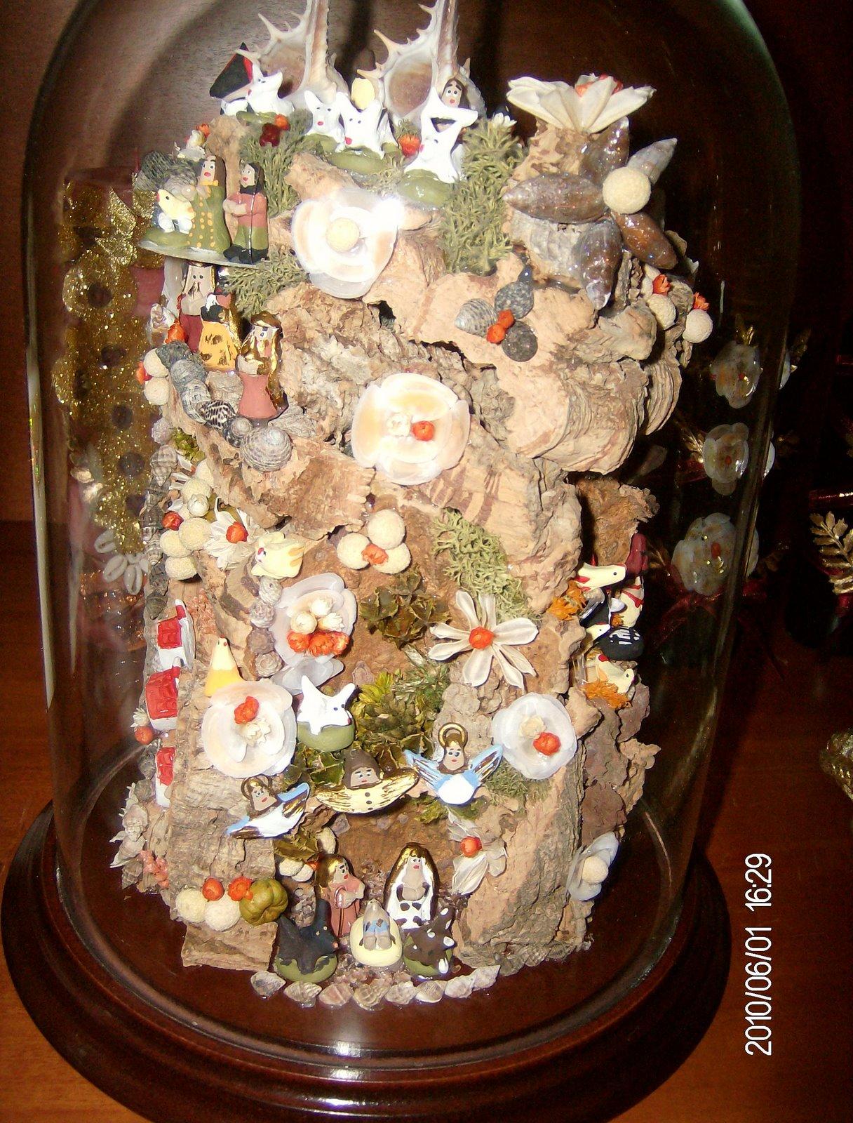 Kit Armario Cultivo Interior ~ As minhas criações Presepio de lapinha dentro de uma manga de vidro