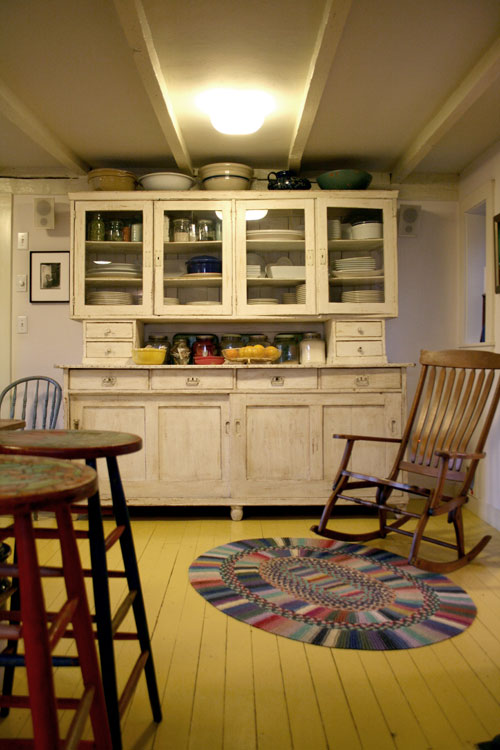 enhabiten painted yellow floor boards. Black Bedroom Furniture Sets. Home Design Ideas