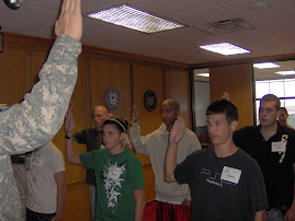 Matt Re-Swearing into the Army