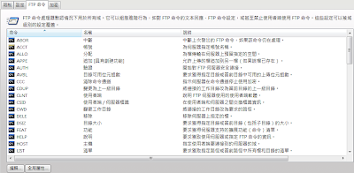 Serv-U 8伺服器限制和設定-FTP命令