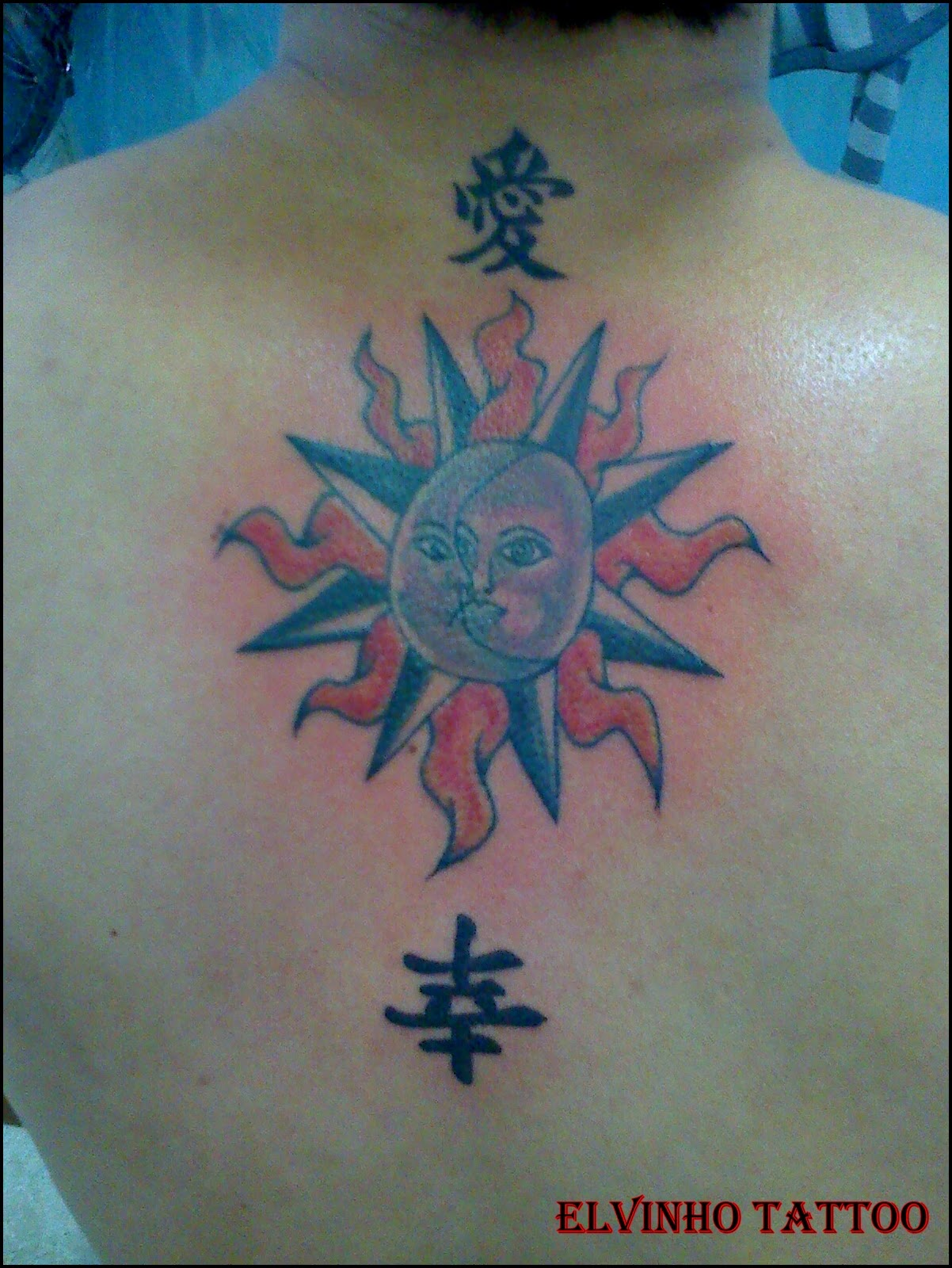 Tattoo de Sol e Lua