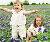 disfrutando de las flores!