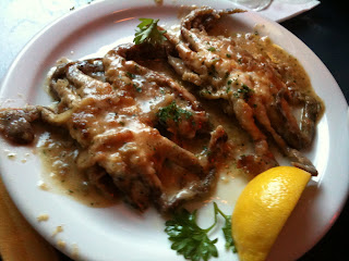 Croakers dish Soft Shell Crab