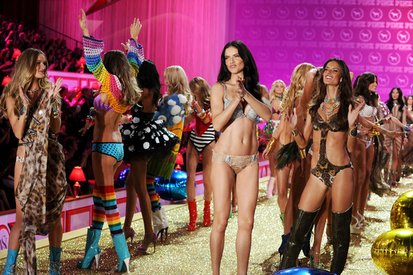 on the Victoria's Secret Fashion Show runway Don't try this at home
