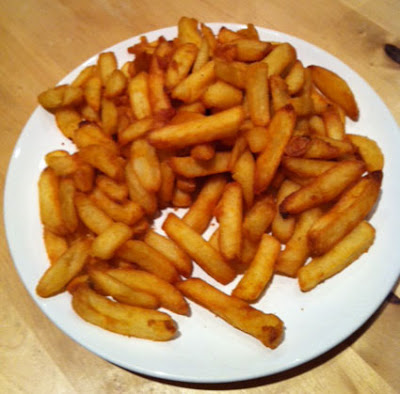 Crispy chips made in a Tefal ActiFry