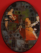 Pin-Ups Collage Clock