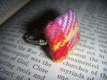 Vintage Plaid Fabric Button Ring