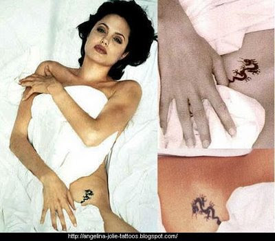 Angelina Jolie Tattoo Angelina