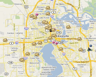 SpotCrime Is Mapping Crimes In Jacksonville Florida