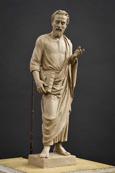 Saint mark kraig varner sculpture
