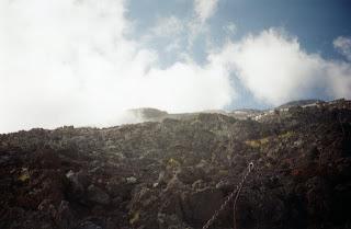 Imagen de una de las rutas para subir al monte Fuji