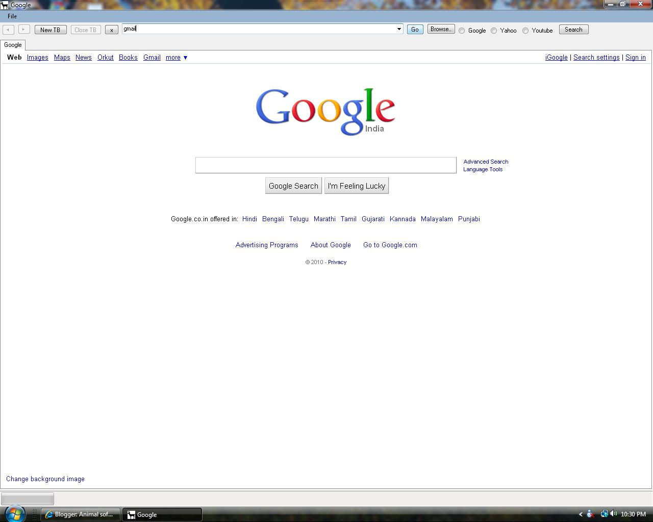 how to make google my homepage on internet explorer 7
