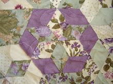 Hand pieced Hexagons
