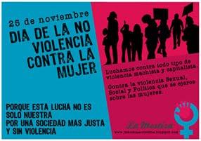 25 de Nov Día de la NO violencia contra la mujer.