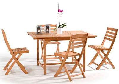 bahçe için masa ve sandalye
