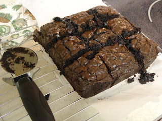 brownies cut