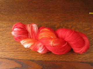 hand dyed red yarn