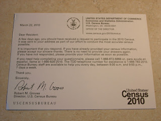 Census Bureau Postcard