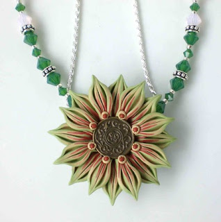 Palace Green Beaded Necklace