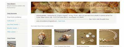 Shore Debris storefront on etsy
