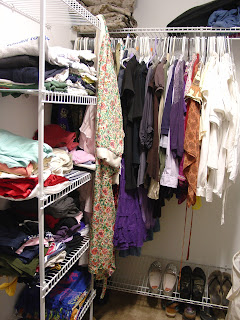Vicky's newly organized closet.