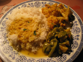 Dal Bhat Tarkari (Rice with Lentil and Vegetables)