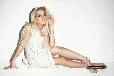 Lindsay Lohan in Purple Magazine