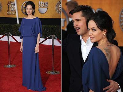 Angelina Jolie a purtata rochia ... invers