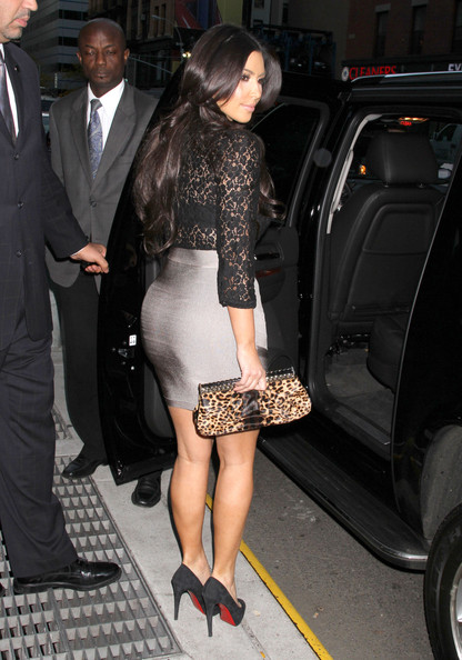 Kim Kardashian in a see through