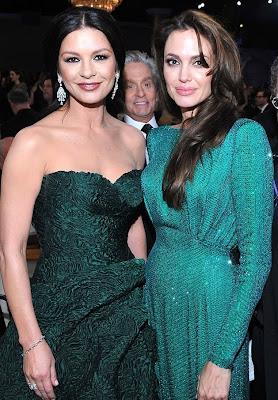 Rochiile verzi au facut senzatie la Golden Globe Awards 2011