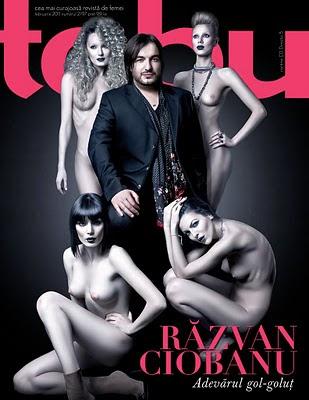Razvan Ciobanu si femei goale pe coperta Tabu din februarie