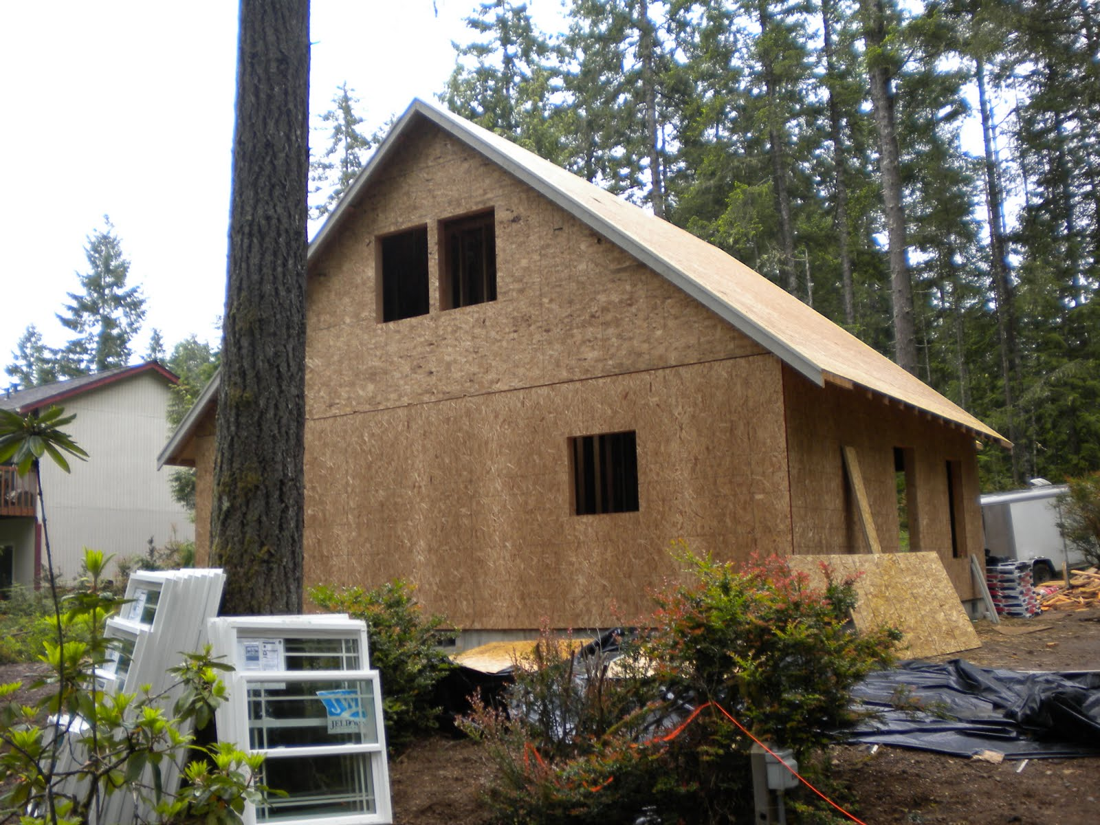 Building our vacation home more framing photos for Summer homes builder