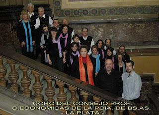 Coro Del Consejo Profesional De Ciencias Económicas           La Plata  ( Pcia. Bs. As.)