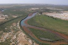Rio Odiel a su paso por Gibraleón