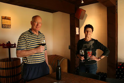 In their cellar the vintage from last year matures in barrels. The walls are stacked with bottled wine. Trevor laughs as he tells the story of the early ... & Pearls and Pipis: Kay and Trevor