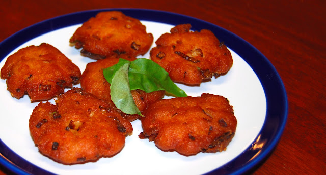 A south Indian potato wada, vegan and gluten-free