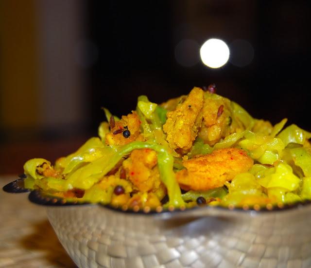 Cabbage Paruppu Usili