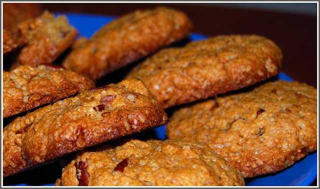 Banana Pecan Cookies, Vegan Recipe
