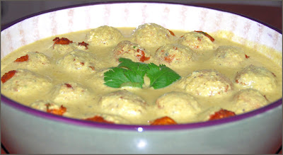 Cauliflower Malai Kofta Curry, vegan recipe