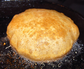 Whole-Wheat Poori, a vegan recipe