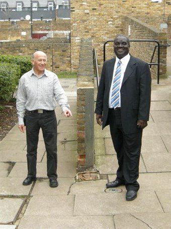 Photo of Adrian Garden and Kingsley Abrams, Vassall Ward Labour Councillors on Vassall View