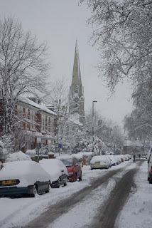 Photo of Knatchbull Road, SE5 in the snow in Vassall Ward