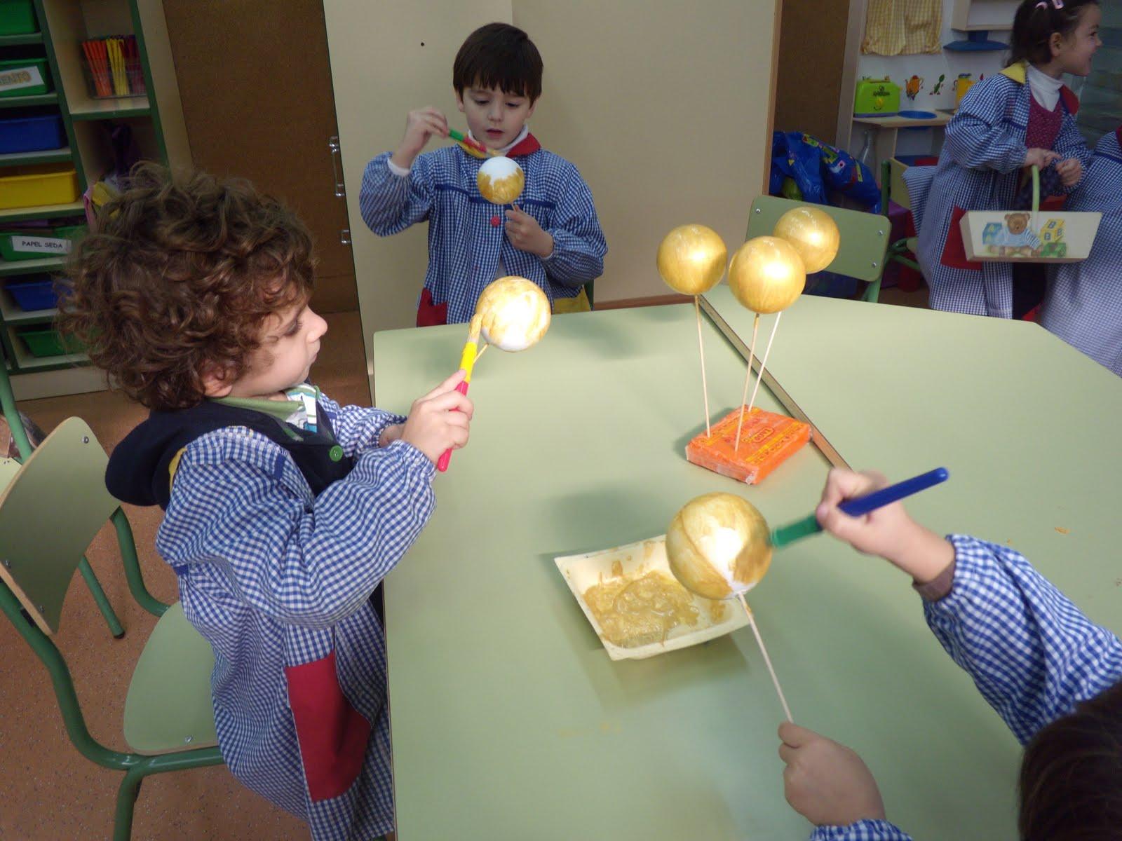 Diasdecole preparamos la navidad - Como pintar bolas de navidad ...