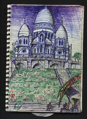 dibujo Sacré coeur - Paris - Montmartre dessin